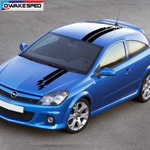 Racing Lattices Stripes Car Hood Roof Decor Stickers For Opel Astra GTC OPC 3-5 Doors 1 set Auto Body Exterior Decals
