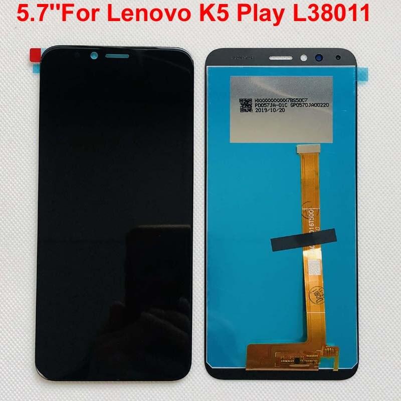 Pantalla LCD Original negra de 5,7 pulgadas para Lenovo K5 Play L38011 + pantalla táctil piezas de repuesto digitalizador Asamblea