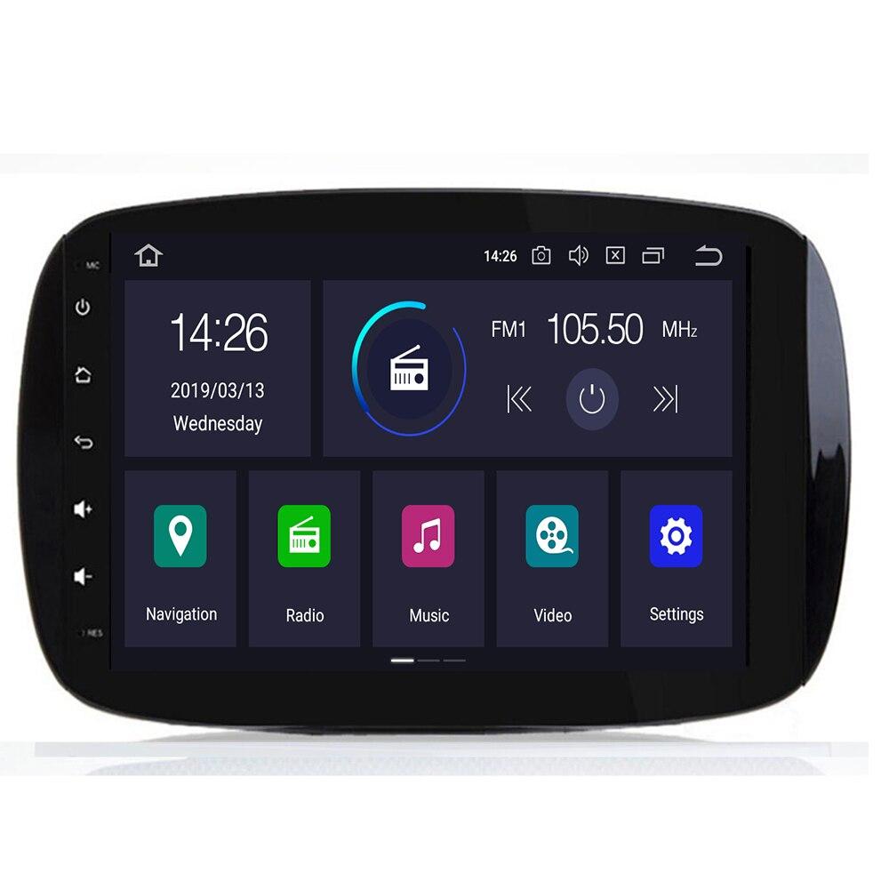 Radio de coche estéreo sistema de navegación GPS de coche de 9 pulgadas para Mercedes Benz Smart Fortwo C453 A453 W453 2015 2016 2017 2018 JBL