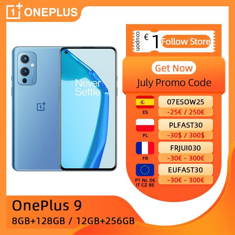 OnePlus 9 Mobile Phone, Global ROM, 8GB/12GB RAM 128GB/256GB ROM, Snapdragon 888 5G cellphone, 6.55'' 120Hz AMOLED Display