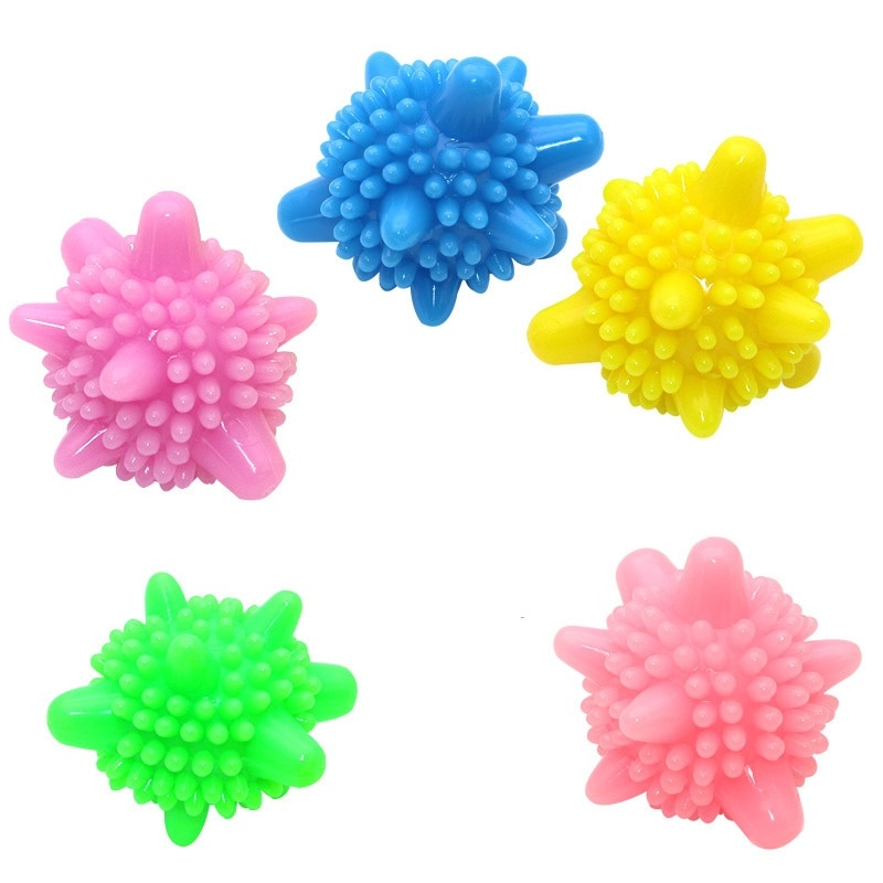 Купить с кэшбэком 5 Pcs Reusable Magic Laundry Ball For Household Cleaning Washing Machine Clothes Softener Starfish Shape Solid Cleaning Balls