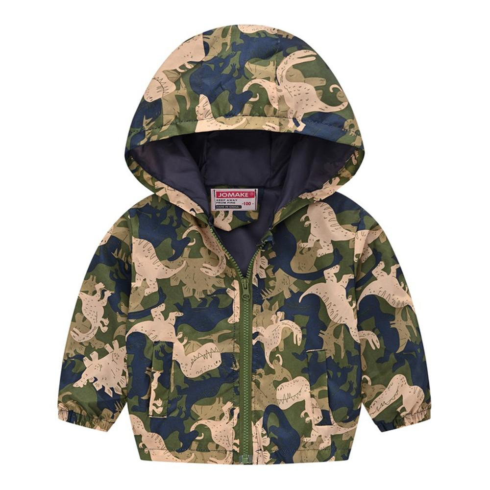 Children Autumn Coats Toddler Kids Baby Grils Boys Long Sleeve Cartoon Print Zipper Hooded Cute Coat Jacket With good quality