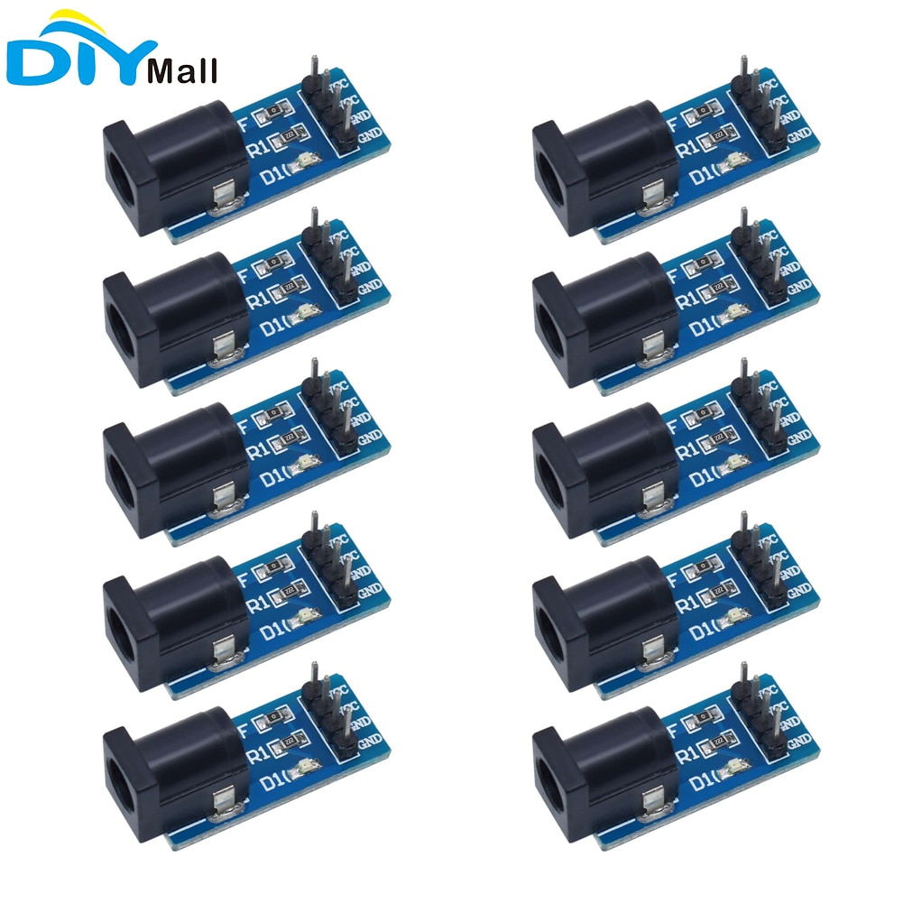10pcs DC-005 DC Power Supply Module Switching Board 5.5*2.1 MM Conversion
