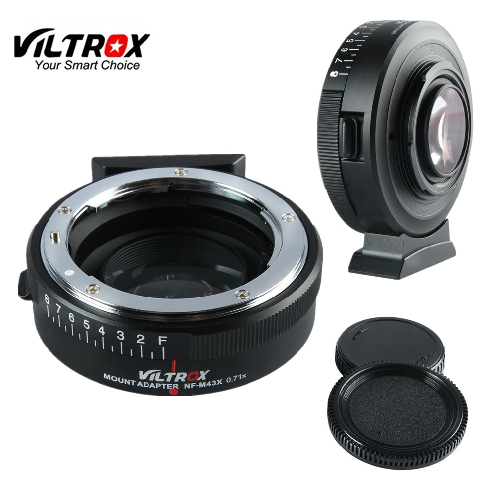 Viltrox NF-M43X البؤري المخفض سرعة الداعم محول توربو ث/فتحة لعدسة نيكون إلى M4/3 كاميرا GH4 GH5GK GH85GK GF7GK GX7