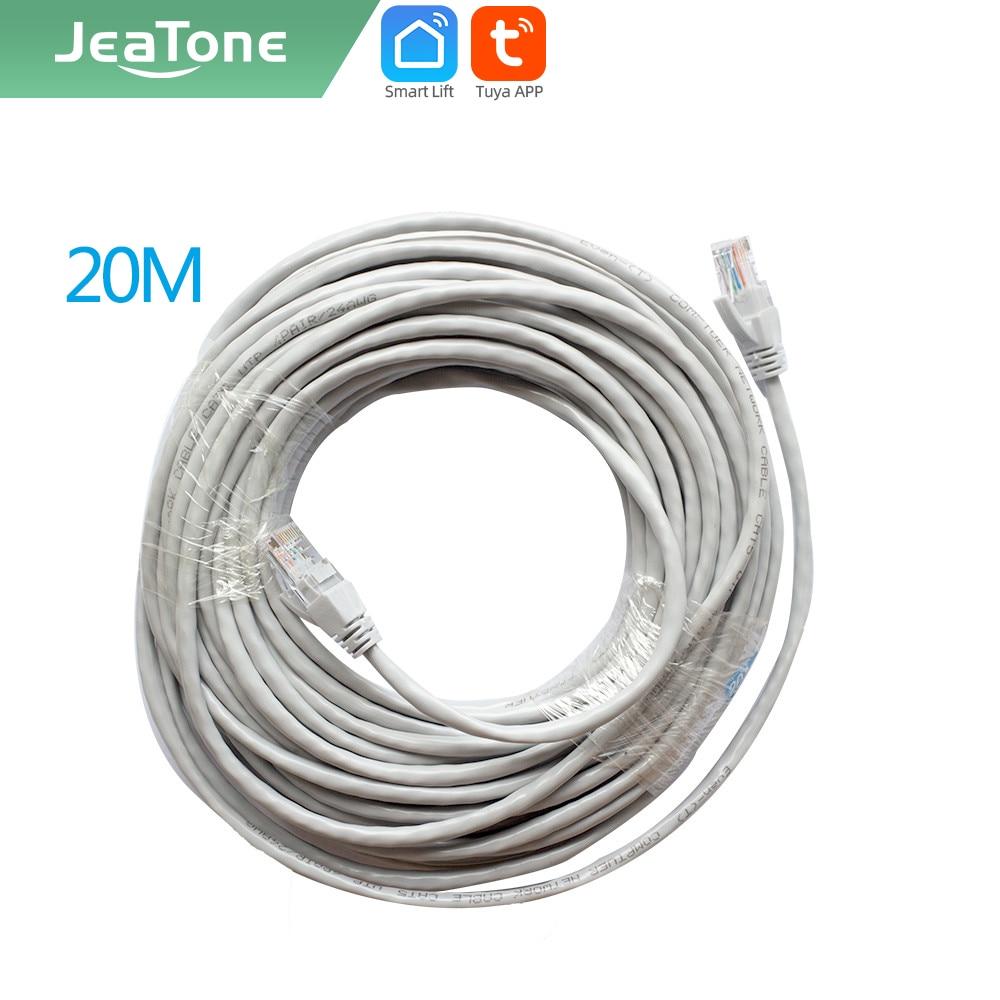 JeaTone-كابل الهاتف الذكي ، كابل الهاتف الذكي CAT5 بطول 20 متر ، اتصال داخلي عبر الفيديو IP ، شحن مجاني