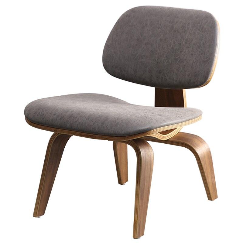 Литой стул среднего века из фанеры с фотостульями и подушкой на спине, стул из фанеры ореха для гостиной, столовой