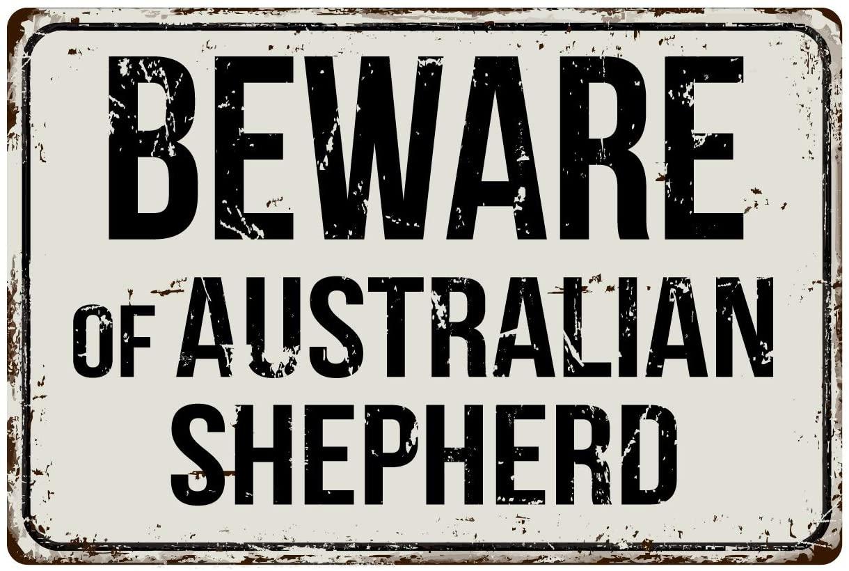 Deerts 128VS Остерегайтесь австралийской овчарки 8x12 винтажный алюминиевый Ретро металлический знак