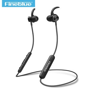 Mate 10 magnetic wireless FineBlue bluetooth 4.1 headset neckband sport headphone stereo bass earphone earbuds with Microphone