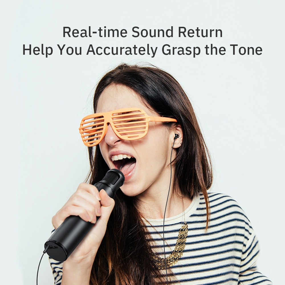 High Quality Professional Dual Wireless Microphone  Portable Bluetooth Karaoke Home KTV Handheld