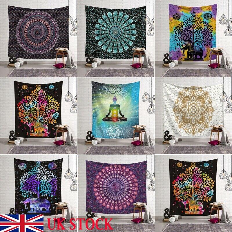 Tapestry Indian Mandala Wall Hanging Twin Hippie Bedspread Gypsy Art Decor Throw Mandala Pattern Blanket Tapestry Home Decor