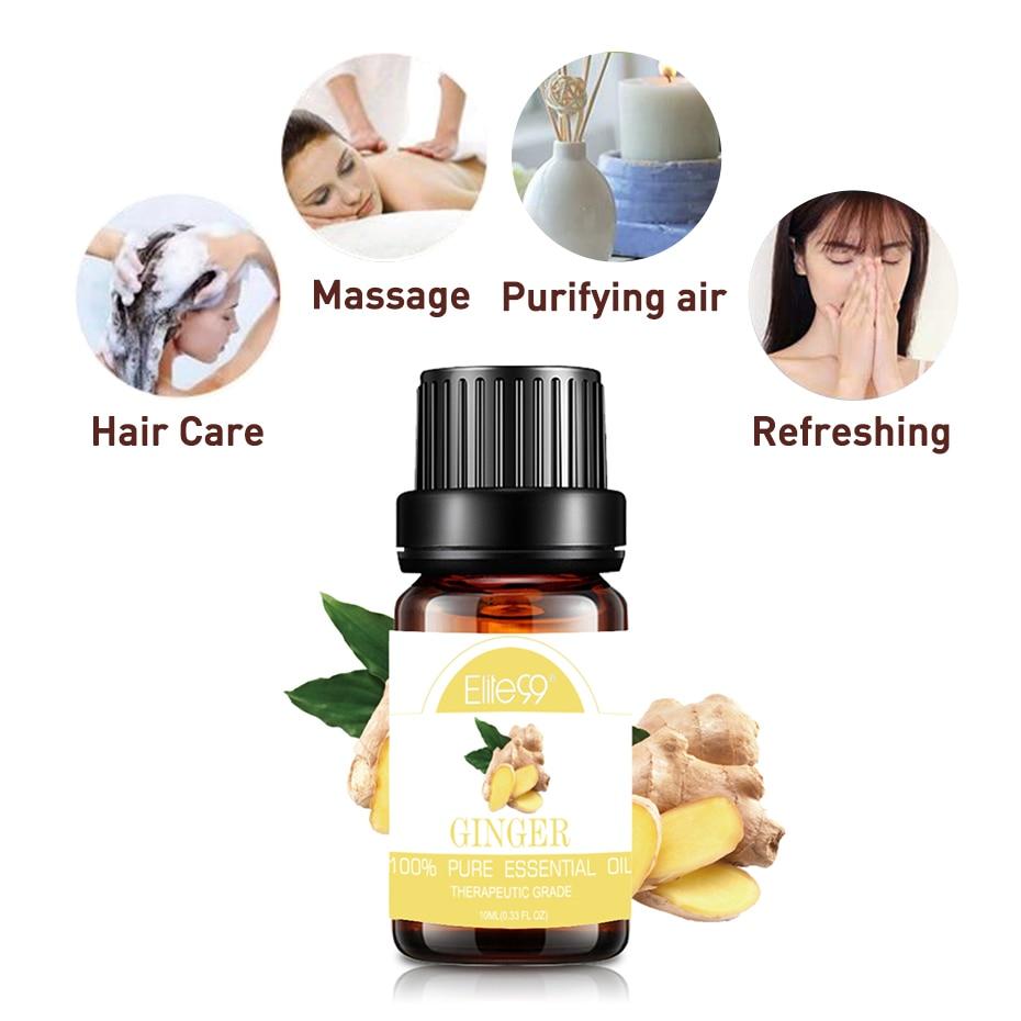 Elite99-aceites esenciales puros para el cuidado del cabello, aceite de salvia para paliar el estrés, aceite de esencia de planta de Romero Ylang, 10ml