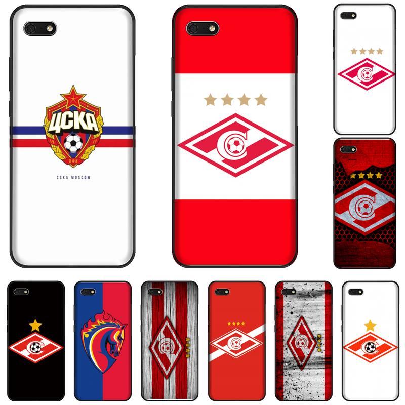 Russian Moscow football Soft Silicone Black Phone Case For Huawei Honor 7C 7A 8X 8A 9 10 10i Lite 20 NOVA 3i 3e
