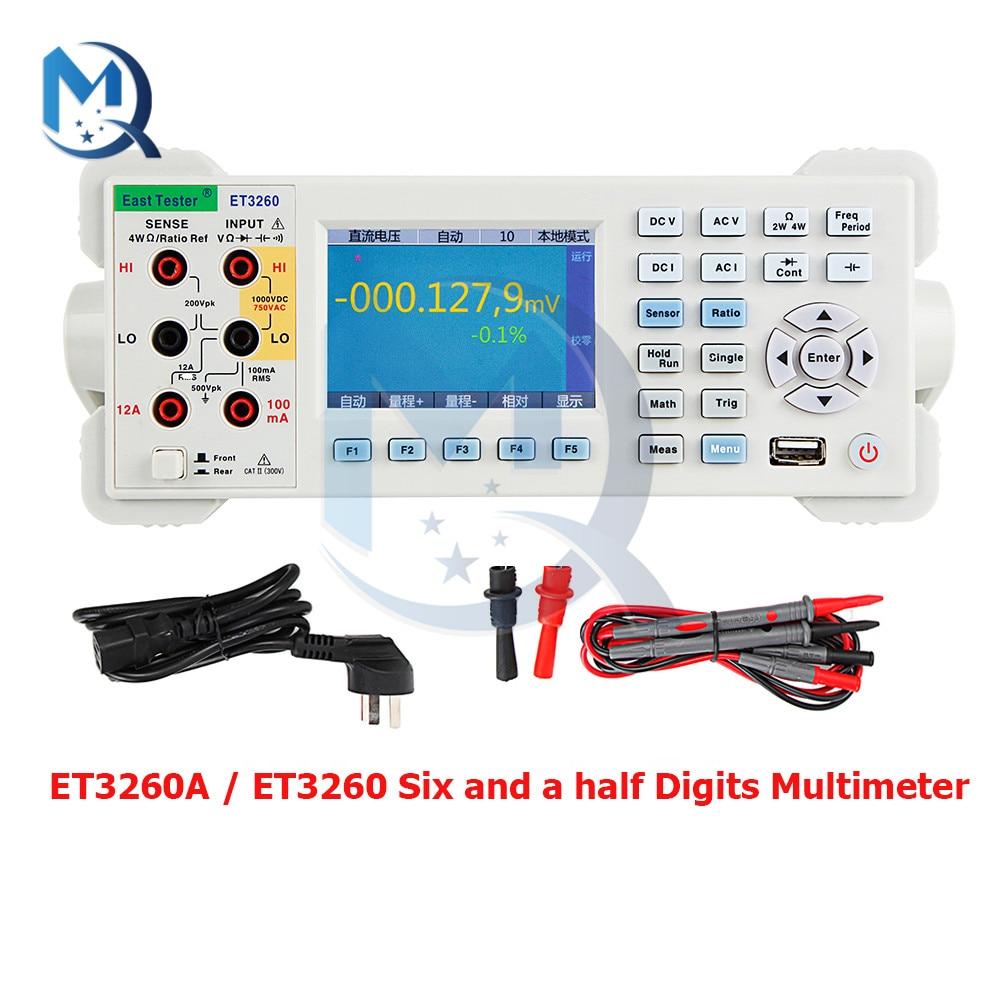 ET3260A ET3260 Six and A Half Digits Multimeter 220V 3.5-inch TFT LCD Screen High Accuracy Desktop Digital Multimeter Tester