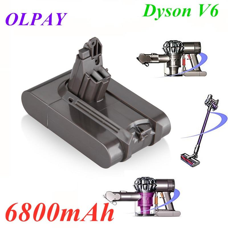 6800mAh 21.6V 6.8Ah Li-ion Battery for Dyson V6 DC58 DC59 DC61 DC62 DC74 SV09 SV07 SV03 965874-02 Vacuum Cleaner Battery