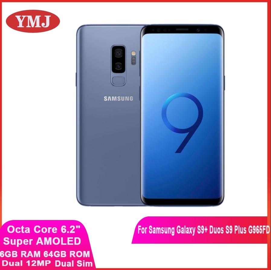 Samsung Galaxy S9 + Duos S9 плюс G965FD Dual Sim оригинальный мобильный телефон Exynos Octa Core 6,2 дюйм двойной 12MP 6 ГБ и 64 Гб NFC Смартфон