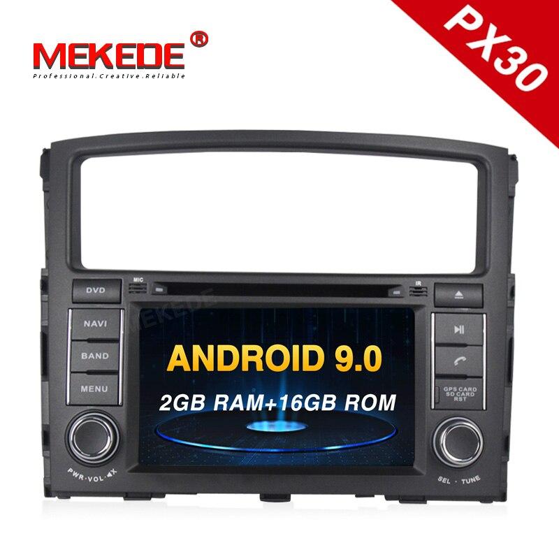 PX30 2Din volante Android 9,0 para MITSUBISHI PAJERO V97 4Core 2G + 16G coche DVD reproductor Multimedia vídeo navegación GPS