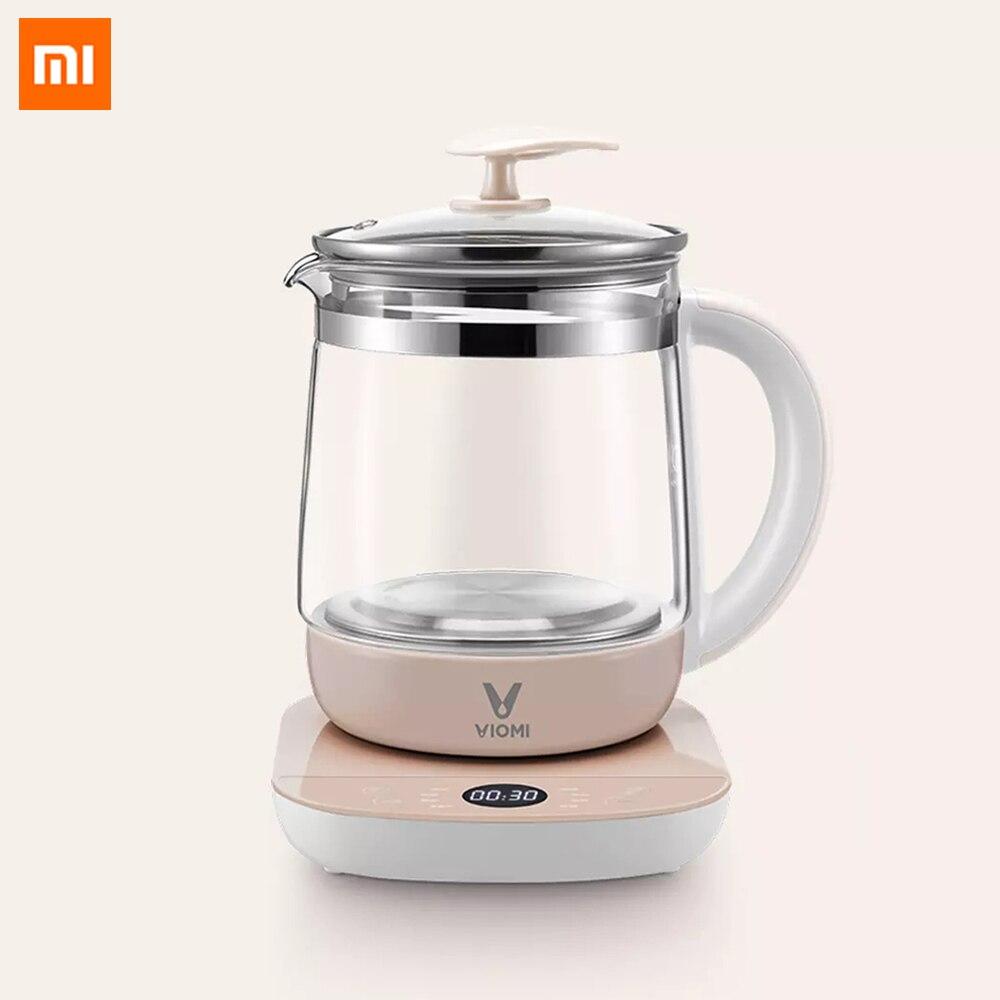 Xiaomi Viomi salud Hervidor eléctrico 1.5L multifunción momento aislamiento cocina tetera de vidrio sopa eléctrico té tetera calentador de agua