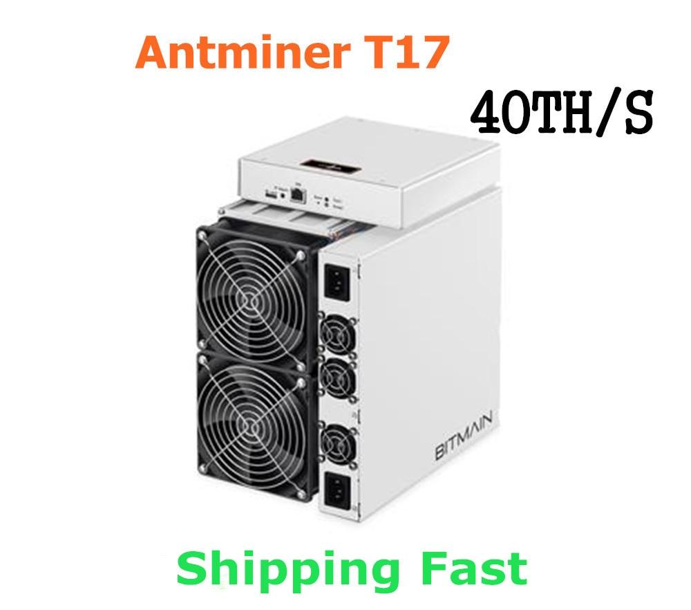 BITMAIN-Asic BTC BCH Miner T17 42TH/S مع PSU أفضل من S9 S11 T15 S15 S17 S17 Pro Z11 WhatsMiner M3 M10 M20S