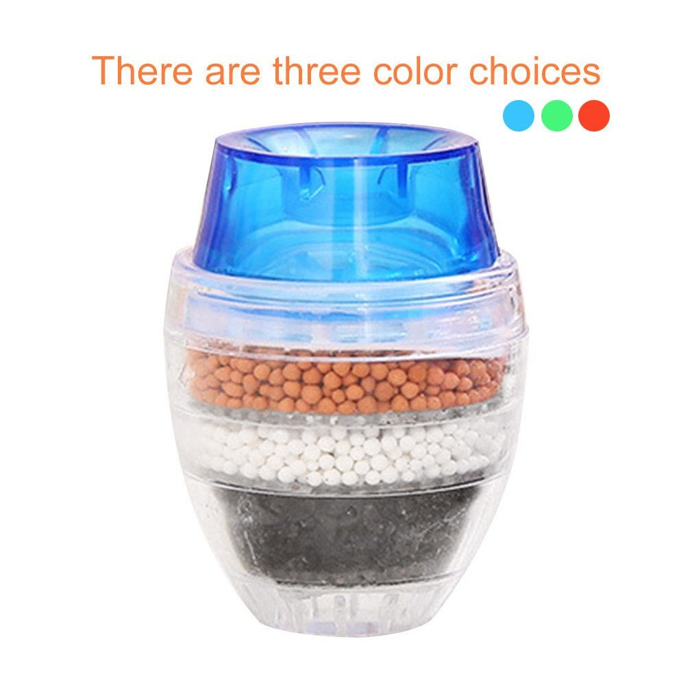 Activated Carbon Round Faucet Water Tap Filter Clean Purifier Filtration Kitchen Mini Random Color