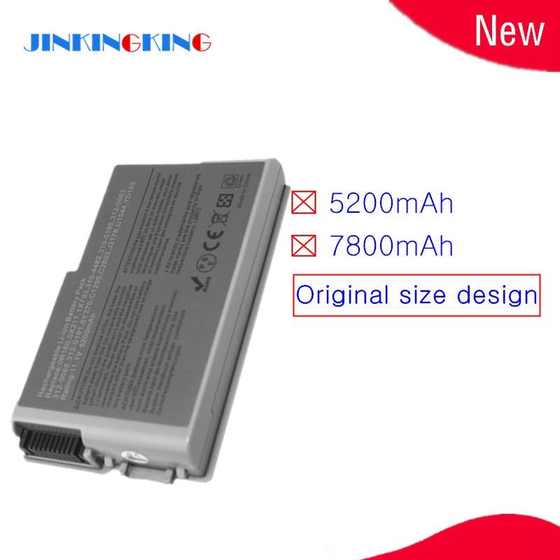 6 celdas de batería del ordenador portátil para Dell lnspiron 510 de 600m latitud D500 D505 D510 D520 D610 D600 D530 6Y270 U1544 310-5195 C1295 4P894