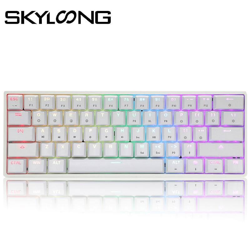SKYLOONG GK61 61 Keys Gaming Mechanical Keyboard USB Wired RGB Backlit Gamer Mechanical Keyboard For Desktop Tablet Laptop SK61