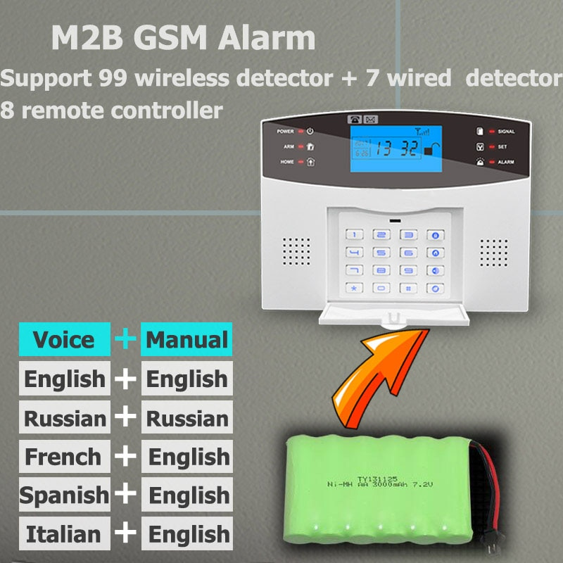 Wifi GSM PSTN Alarm System Wireless & Wired Detectors Alarm Smart Home Relay Output APP English/Russian/Spanish/France/Italian enlarge