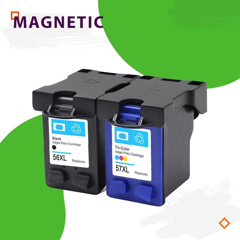 Cartucho de tinta Compatible para hp 56 57 Deskjet serie 5150 450CI 5550, 5650, 7760, 9650 PSC 1315, 2110, 2210, 2410 impresora para HP56