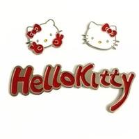 takara tomy car metal sticker hello kitty 3d stereo car sticker cute kt cat car sticker personalized scratch cover sticker