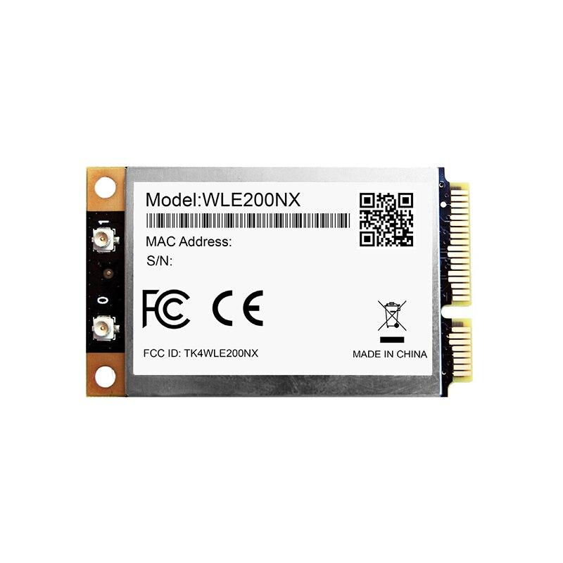 بطاقة صغيرة كوالكوم Atheros AR9280 802.11bgn 802.11bgn ، بطاقة شبكة لاسلكية مزدوجة النطاق ، 2 × 2 MIMO ، 802.11n ، 2.4 جيجا هرتز ، 5 جيجا هرتز