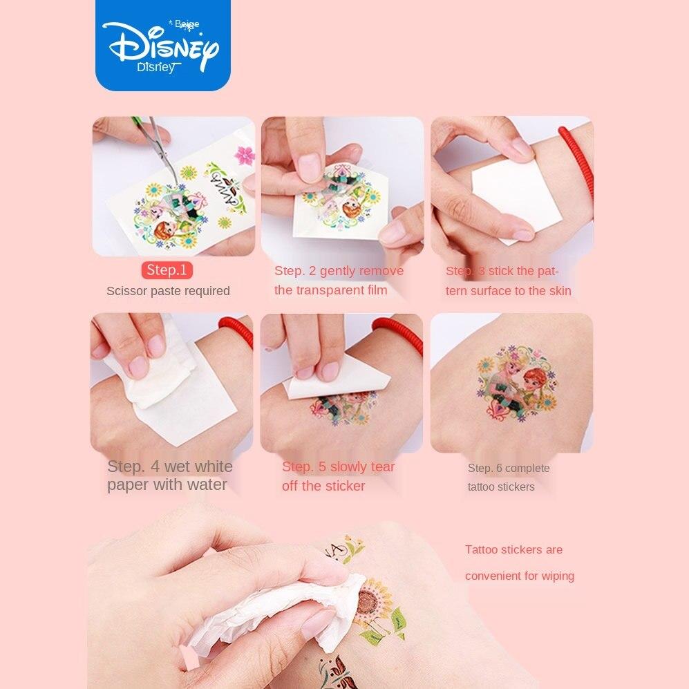 Random 1pcs Disney Cartoon Children Tattoo Stickers Frozen Minnie Waterproof Sticker Original Kids Girls Christmas Birthday Gift Stickers Aliexpress