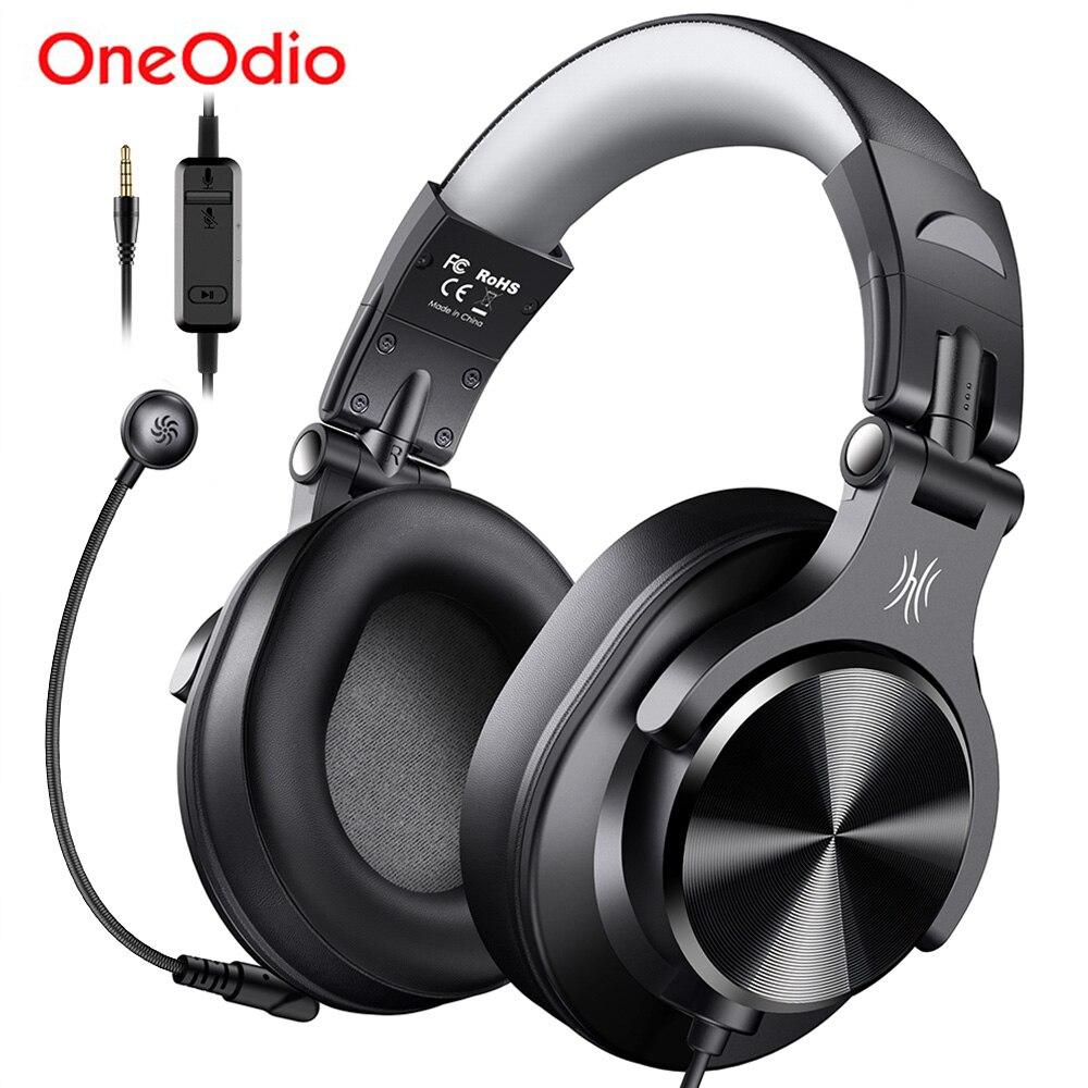 Oneodio A71D سماعة الألعاب الكمبيوتر مع ميكروفون للانفصال السلكية فوق الأذن مركز الاتصال سماعات للكمبيوتر سكايب مكتب ألعاب