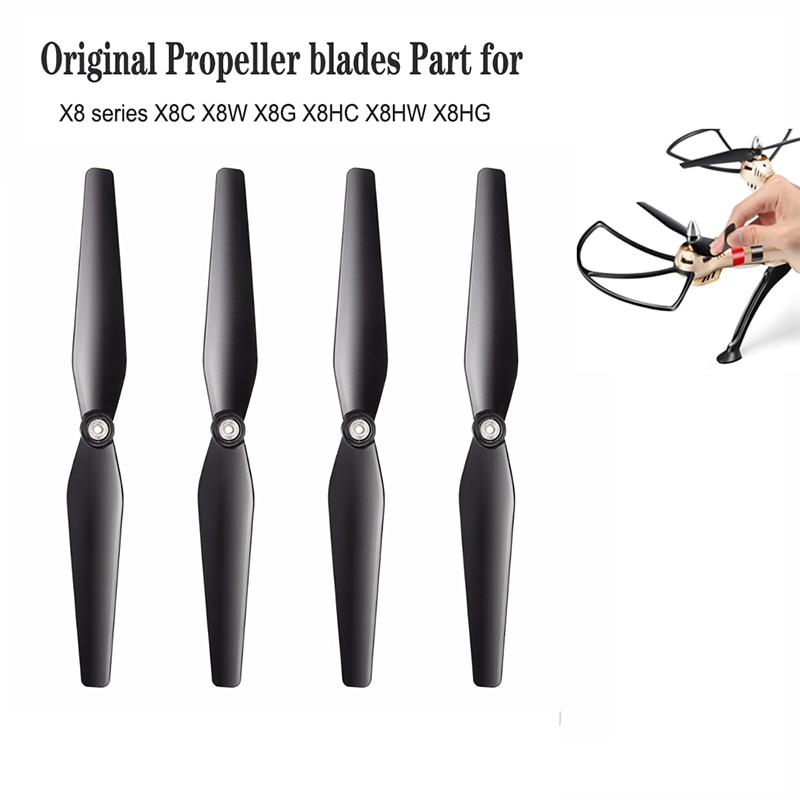 syma x8 x8w x8hg x8hw rc drone no camera or no remote 6 axis rc helicopter quadcopter olny body for syma drone SYMA X8 PRO Rc Quadcopter Propellers Parts Original Blades For Syma Series X8c X8w X8g X8hc X8hw X8hg Spare Propeller Drone Accs