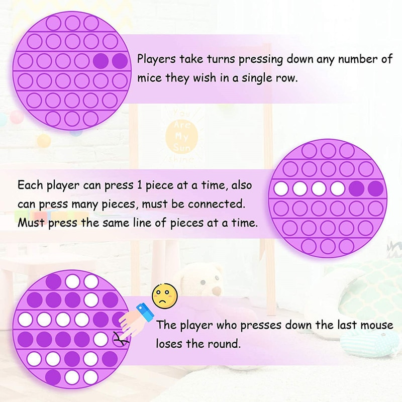 10Pcs Hot Push Bubble Fidget Toys Adult Stress Relief Toy Antistress PopIt Soft Squishy Anti-Stress Gift Anti Stress Box Poppit enlarge