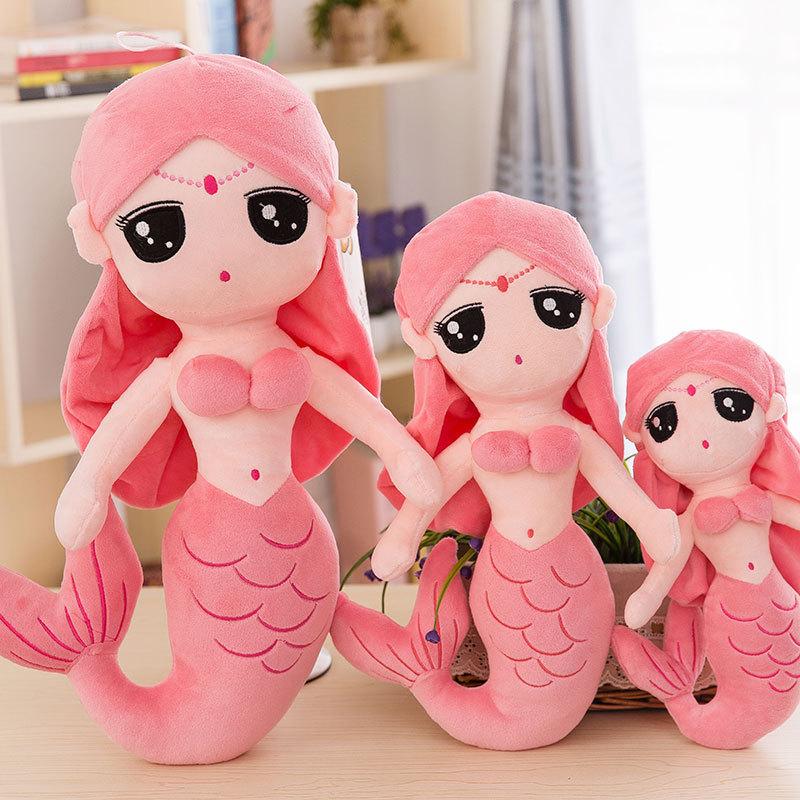 304050CM Cute Mermaid Plush Toy Kids Girl Cartoon Stuffed Little Mermaid Doll Home Decoration Girls Girlfriend Birthday Gifts