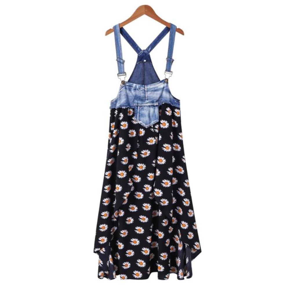 Vestido de verano de tela vaquera con tirantes, holgado, japonés, Espalda descubierta,...