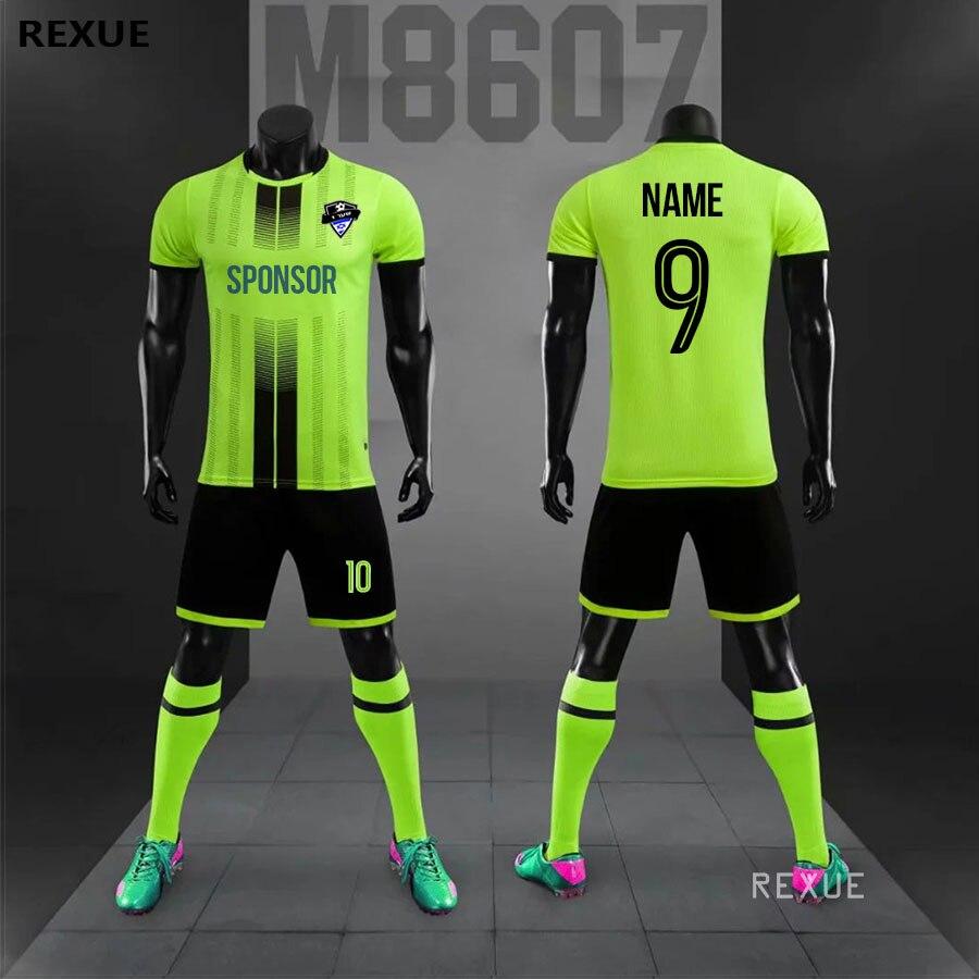 Jérsei de futebol diy conjunto uniforme de futebol masculino personalizado futebol jerseys futbol adulto conjunto terno 2019 2020 novo tamanho grande agasalho