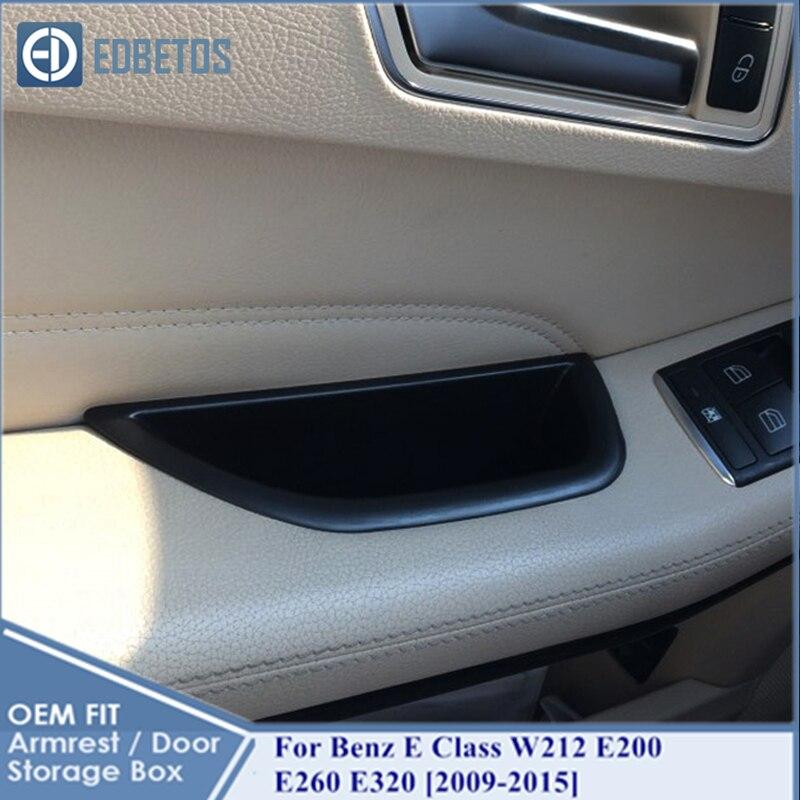 Barril de Armazenamento da porta para Mercedes Benz Classe E W212 E200 E260 E320 Maçaneta Da Porta Titular Container Caixa de Armazenamento De Bandeja 2009 2010-2015