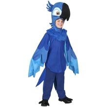 Enfant Rio Blu déguisement animaux perroquet Cosplay déguisement dhalloween pour enfants carnaval Performance fête animaux Costume pour garçons