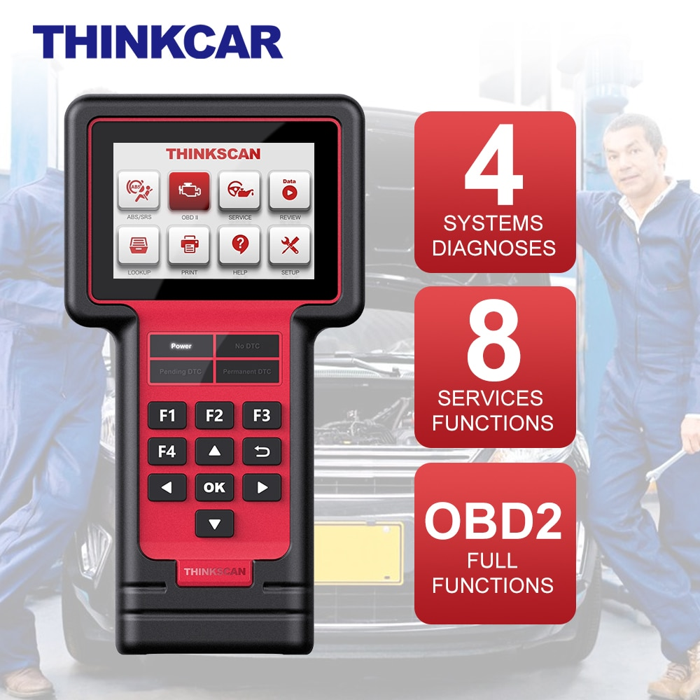 THINKCAR ThinkScan 609 Automotivo OBD2 Scanner Professional Full OBD 2 4 System Diagnosis 8 Service Function Car Diagnostic Tool thinkcar thinkscan 609 obd2 car scanner engine tcm abs srs full system auto code reader obd 2 scanner automotivo diagnostic tool