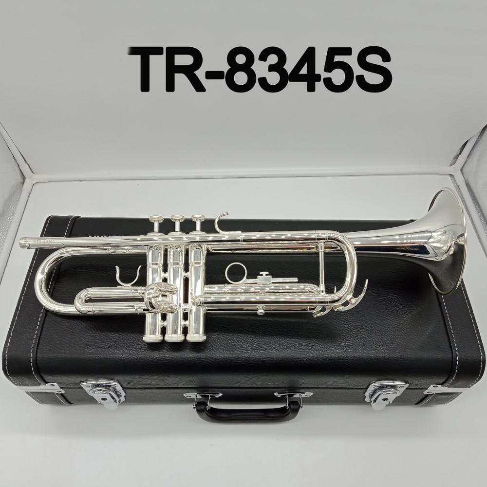 Nuevo MFC Bb trompeta 8345S instrumentos de música bañados en plata trompeta Profesional estudiante incluido funda boquilla Accesorios