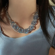 2021 New Acrylic Candy Color Sunglasses Chains Glasses Chain Straps Necklace Chunky Lanyards Necklac
