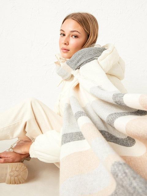 2020 designer winter plaid cashmere women knitted turkish quality scarf winter warm female shawl luxury brand neck lady shawl