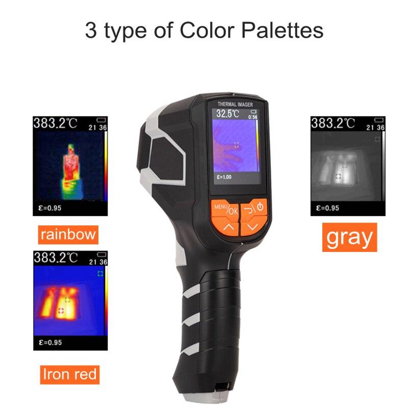 Cámara termográfica infrarroja térmica con 3 colores de paleta-20 ~ 1000C 300000 píxeles