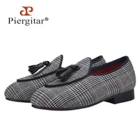 piergitar 2021 new handmade children tassel shoes red colors shoes outsole kids loafers parental shoe same men loafers design