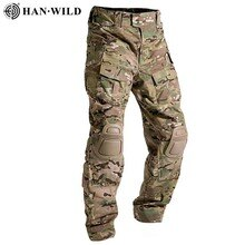 Multicam 위장 군사 전술 바지 육군 유니폼 바지 하이킹 바지 Paintball 전투화물 바지 무릎 패드
