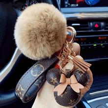 מקורי קריקטורה Kawaii Keychain חמוד תיק תליון אופנה זוגות אביזרי אישיות רכב בפלאש Keychain KeyDecorative ווים
