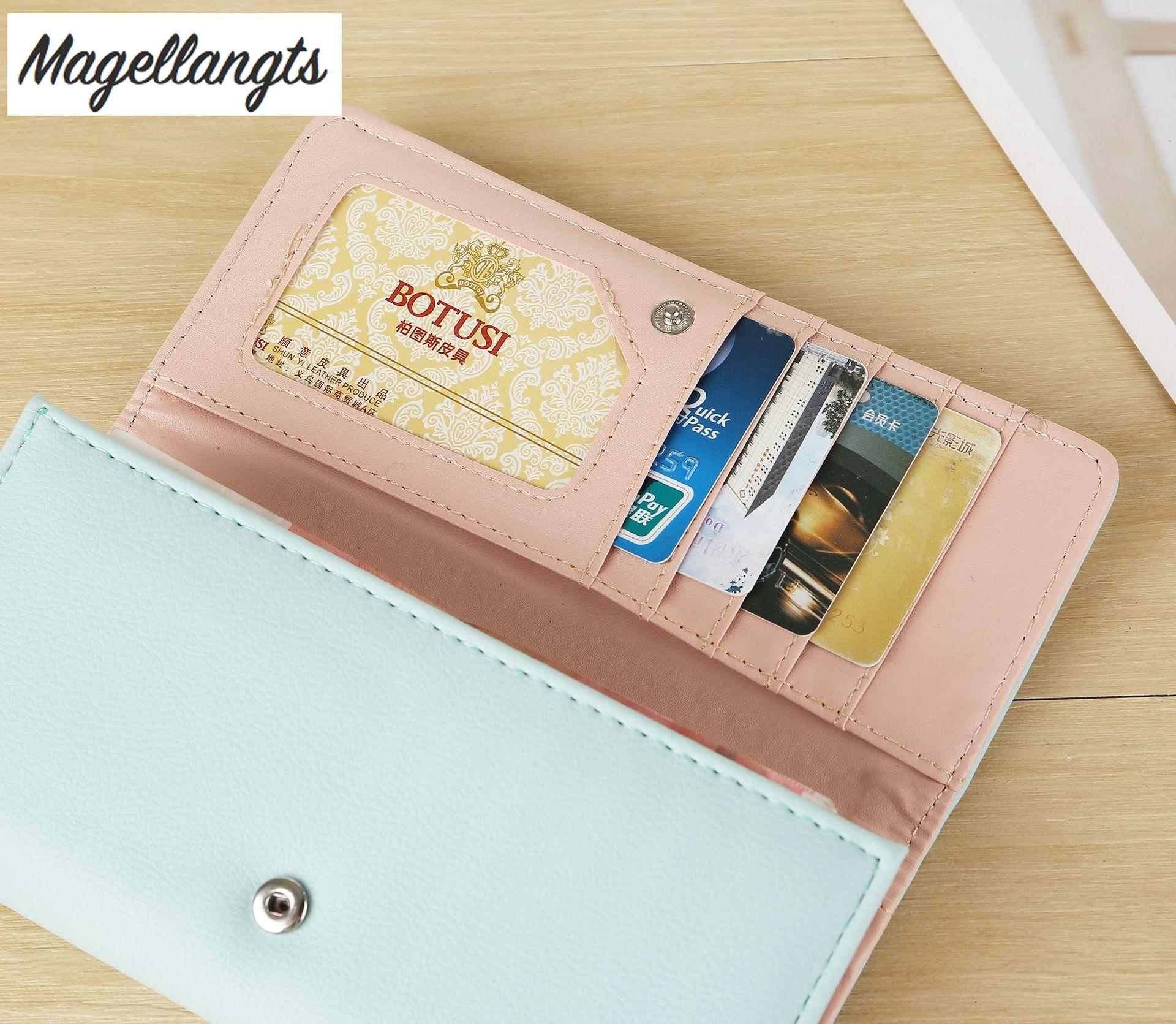 New lady's wallet luxury designer  women purse PU leather womens wallets  money bag women fashion card package