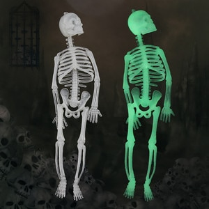 20cm Luminous Skull Skeleton Body Scary Halloween Magic Toy Party Haunted House Tricky Prop Shocker Toys For Kids Adults антистр