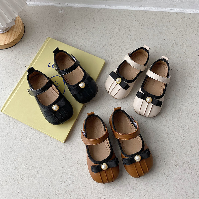 Girls PU Leather Shoes All-match Princess Shoes Soft-soled Rubber Girls Shoes Soft-soled Rubber Rubb