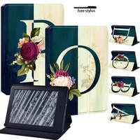 for kindle paperwhite 1 5th2 6th3 7th4 10th pu leather tablet stand cover case for kindle 10th8th letter print pattern
